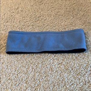 Blue winter headband